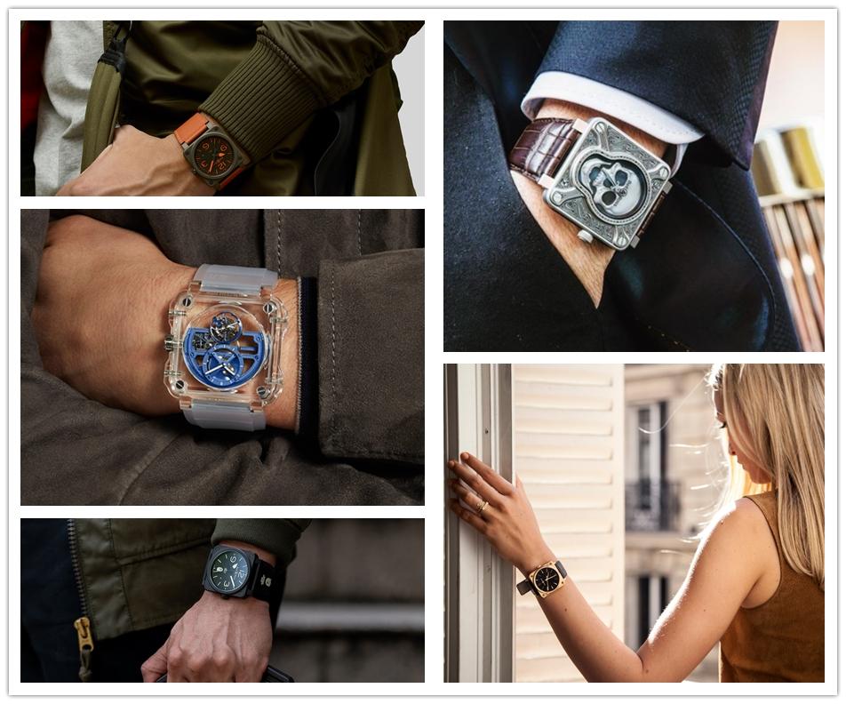 Bell& ross watch fashion looks